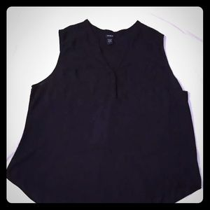 Torrid Blouse Solid Black Polyester Sleeveless
